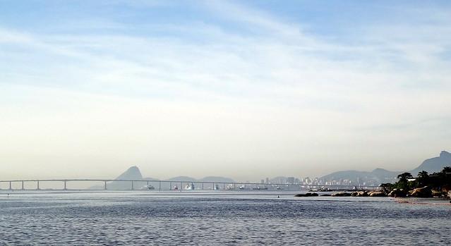Rio de Janeiro, Guanabara bay: Panoramic view.