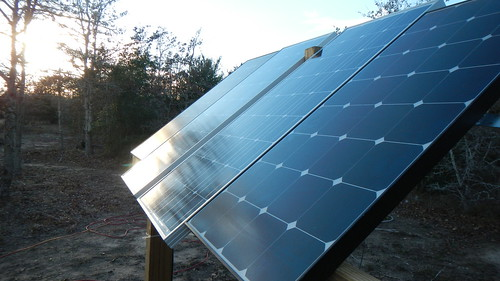 Solar Panels at Off the Grid Vineyard by wenhoo