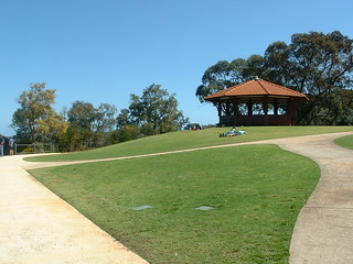 View of a hut in Kings Park