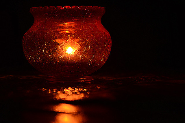 Crackle Glass Bowl