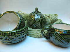 The ceramic yarn collection: Leaf Green
