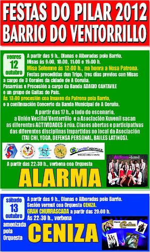 A Coruña 2012 - Festas do Pilar no Ventorrillo - cartel