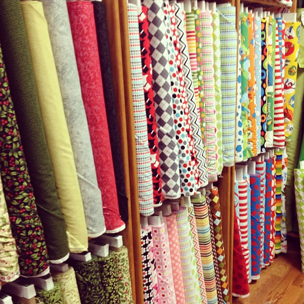 Love LOVE new fabric store. Unfortunately, didn't have black I needed. #quiltsbychristmas