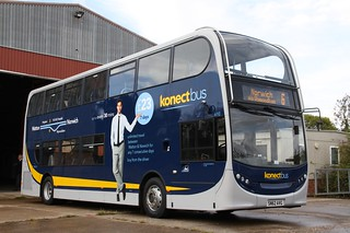Hot off the press (again!) Konectbus new Enviro400 with 3&6 branding (c) Graham Smith