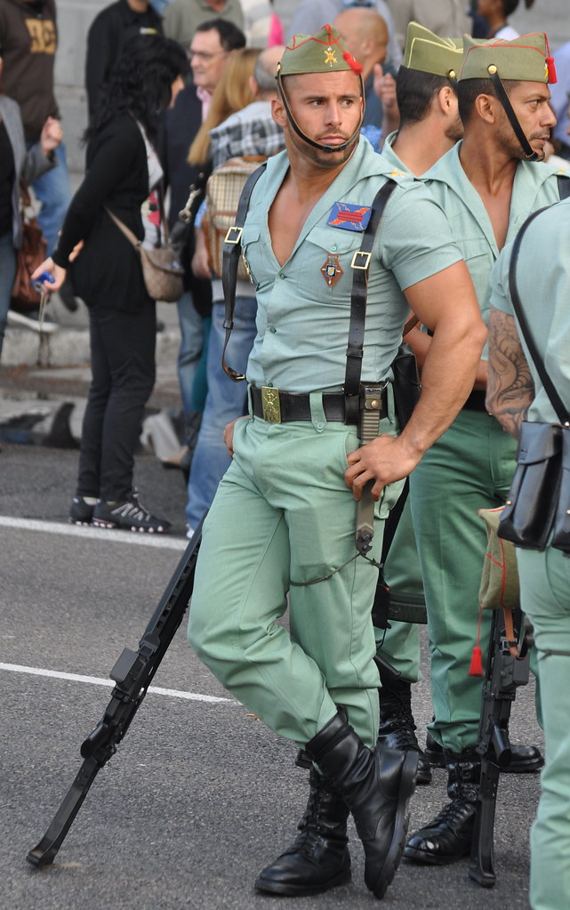 Tight police uniforms