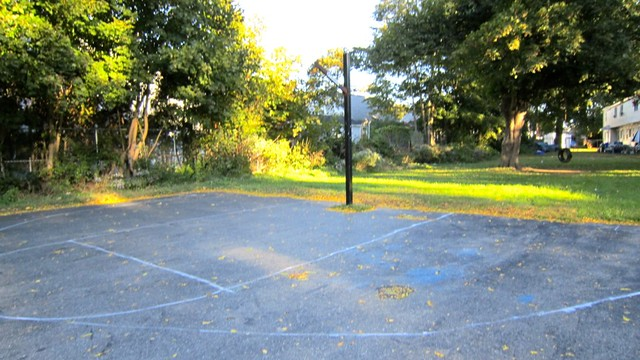 Bha story ave recreational facility homemade for Homemade basketball court