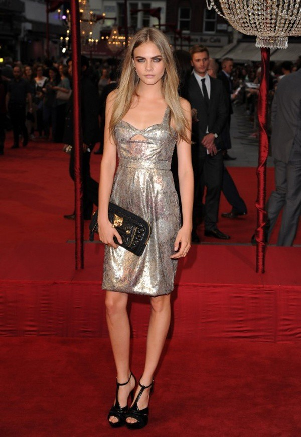 5 Cara Delevingne wearing Burberry to the London premiere of Anna Karenina 4 Sept 2012
