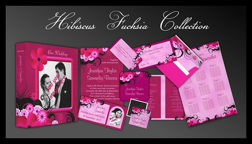 Fuchsia Hibiscus Wedding Collection Set