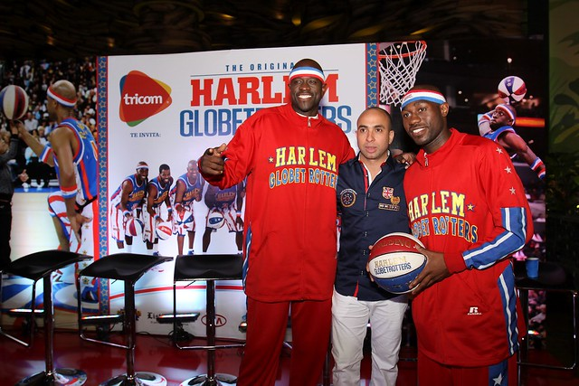 Irving Alberti contraparte con The Original Harlem Globetrotters