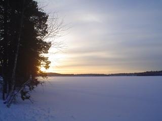 Neve no norte da Suécia
