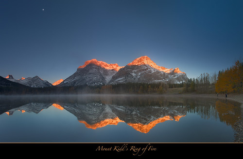 Ring of fire-Mount Kidd Sunrise, Alberta, Canada
