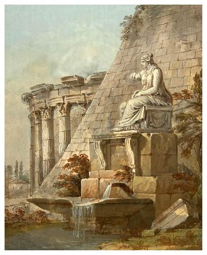 006-Fantasía arquitectónica- Charles-Louis Clérisseau- State Museum Hermitage