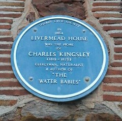 Photo of Charles Kingsley blue plaque