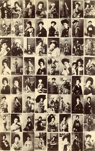 Multi-view Postcard of Famous Maiko and Geiko 1910s by Blue Ruin1