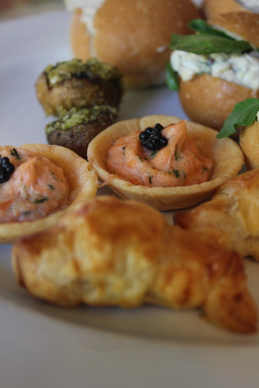 Salmon tartlettes