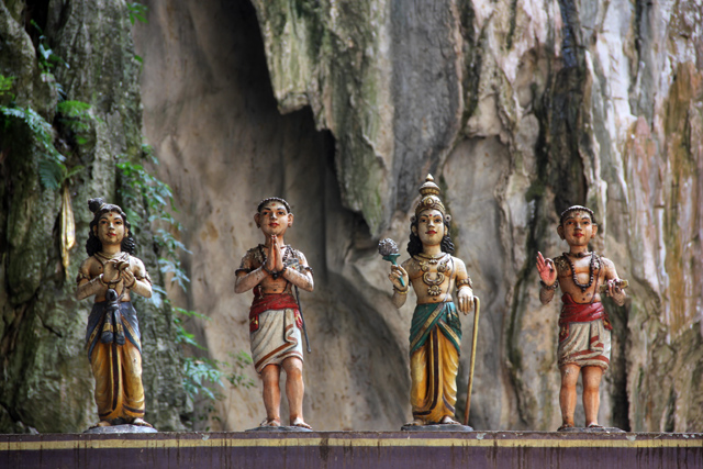 Hindu statues at the Batu Caves