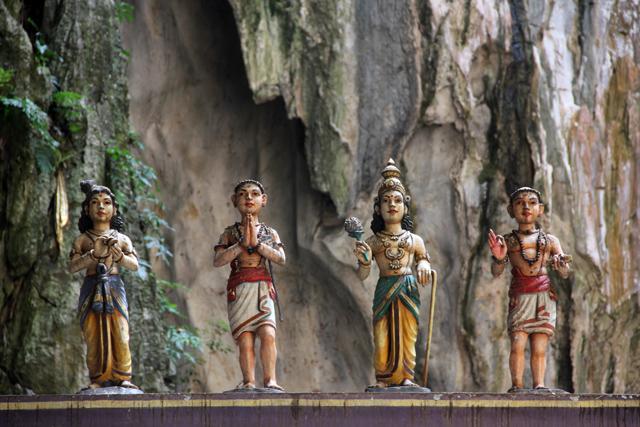 Hindu statues at the Batu Caves
