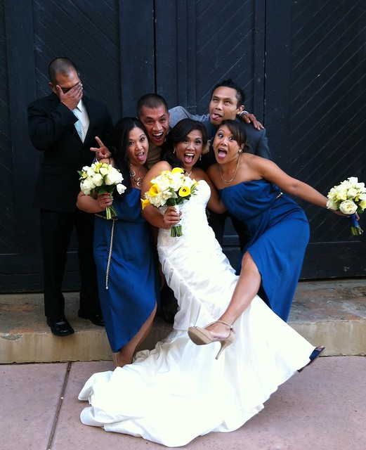 Cousins being silly at Reena's wedding