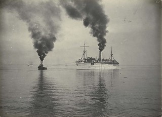 The troopship WARILDA and the tug RACER, Melbourne