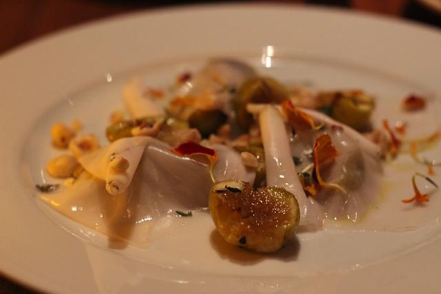 Boccalone Ibérico di bellota lardo, roasted figs, hazelnuts & rose thyme