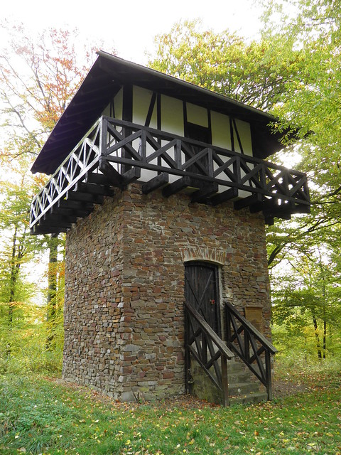WP 1/37 - Reconstructed two-floored Limes Watchtower (not historically correct), near Oberbieber, Limes Germanicus