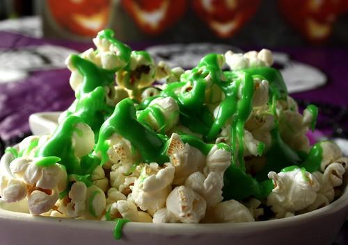 Halloween Ectoplasm Slimed Popcorn