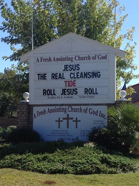 RTR, RJR Church Sign