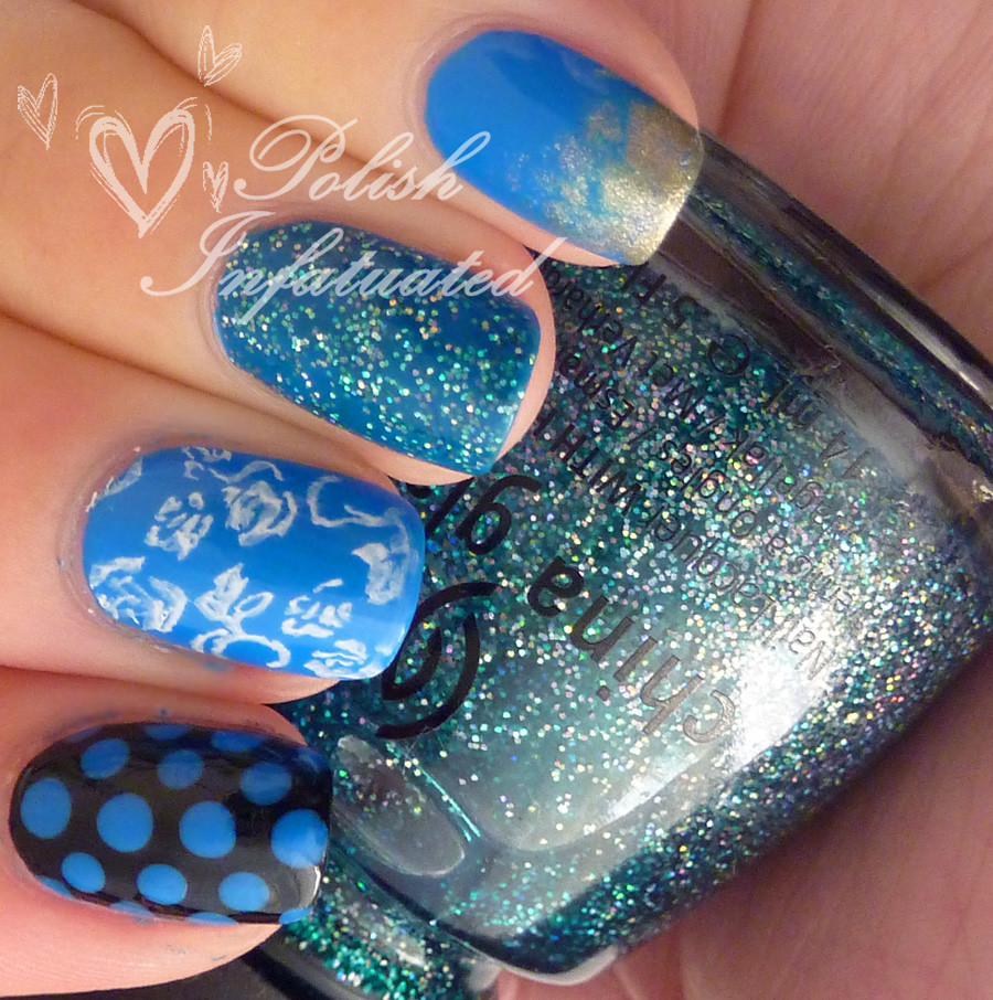 the blues-polka dot, flowers, butterflies and glitter3