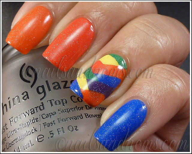 31DC2012 Day 9 - Rainbow Nails 2