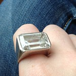 sterling deco ring from tag sale in Long Beach