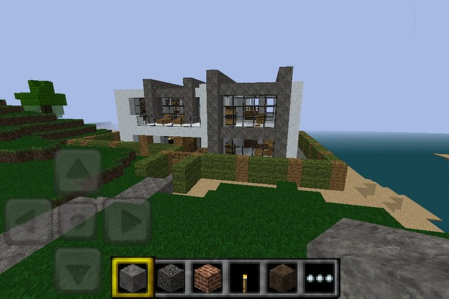 Minecraft pe modern house flickr photo sharing for Modern house minecraft pe