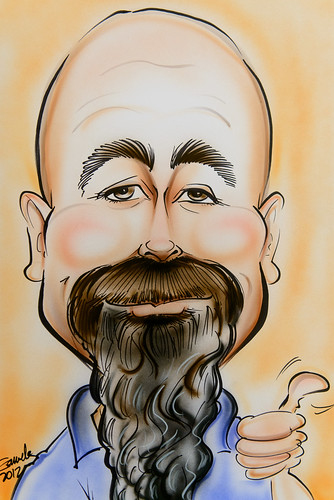 Caricature from the Coastal Carolina Fair