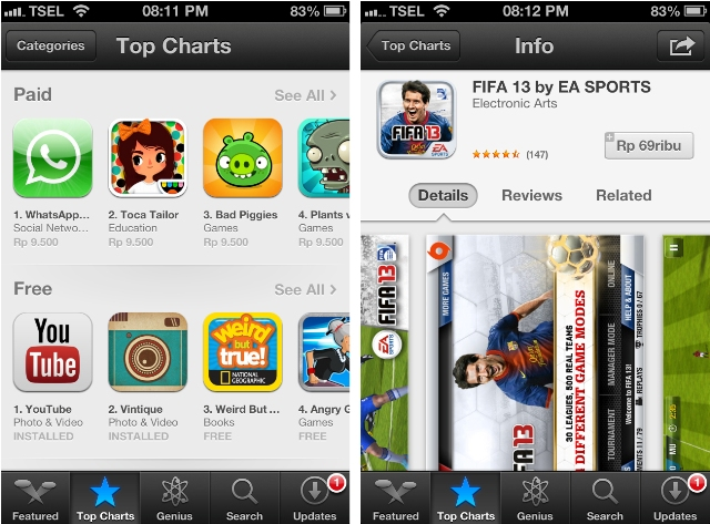 Beli aplikasi di App Store dalam Rupiah