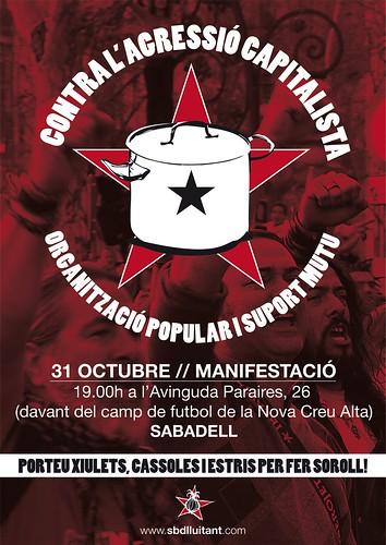 manifestació sabadell 31 octubre 2012
