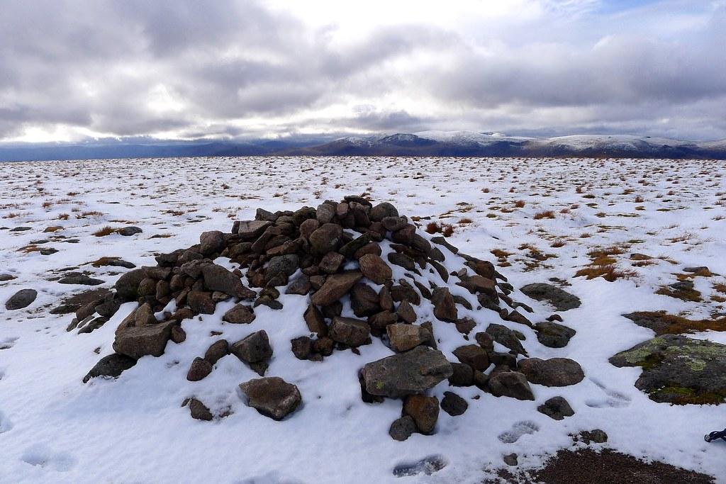 Summit cairn of Beinn a' Bhuird