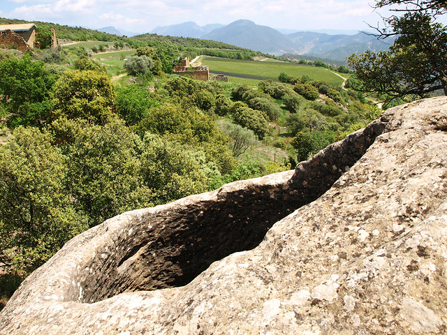 Fermenting hole at Castell d'Encus, Tremp
