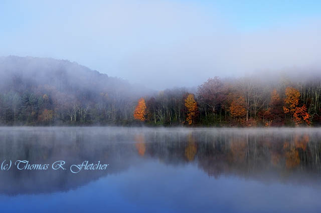 Autumn Mist on Lake