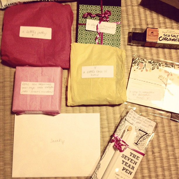 Of course @jenmahon sent a pretty package with pretty labels.