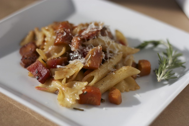 Pasta with Skillet-Roasted Root Vegetables