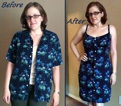 Flaminog Dress Before & After