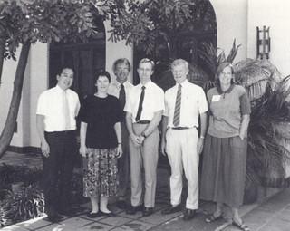 The 1989-90 Wig Distinguished Professors - Samuel Yamashita, Elizabeth Crighton, William Wheedbee, Michael Kuehlwein, Harry Mullikin, Deborah Burke
