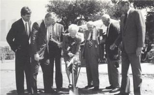 Mr. and Mrs. Henry Haldeman and family at ground-breaking ceremony on September 7, 1990, for Haldeman Pool