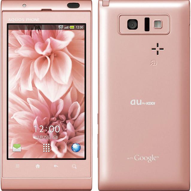 AQUOS PHONE IS14SH 実物大の製品画像