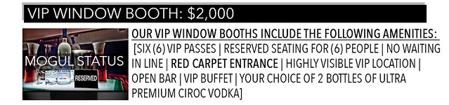 EVENTBRITE -VIP BOOTH