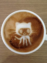 Today's latte, Octocat.