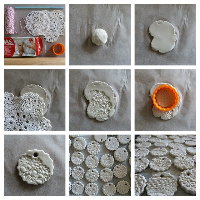 Air Dry Clay Project Ideas http://www.alittlebirdtoldme-craft.com/2012/11/air-dry-clay-ornament-tutorial.html