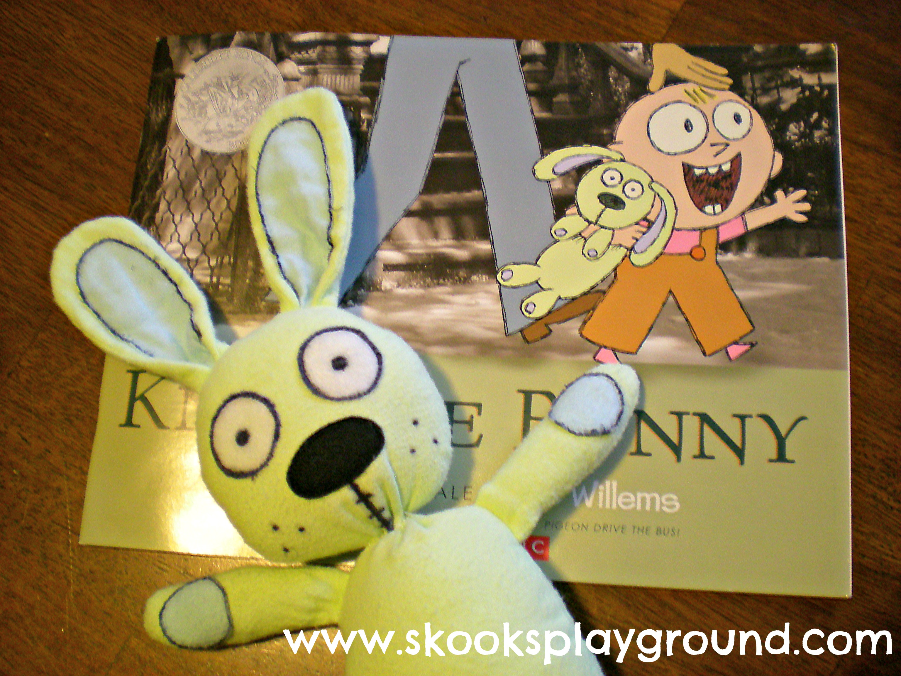 Knuffle Bunny with Book