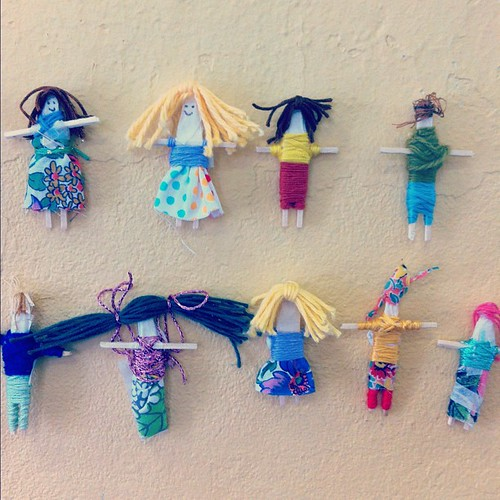 Ran into these cute little worry dolls from the #heymaker kids workshop today