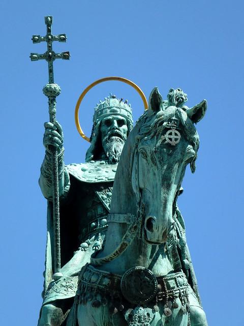 Budapest - jour 3 - 23 - Szent István-szobor (Statue de Saint-Etienne)