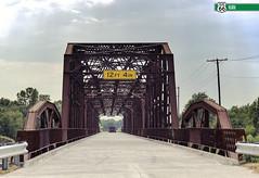 Lake Overholser steel truss bridge. BETHANY, OK